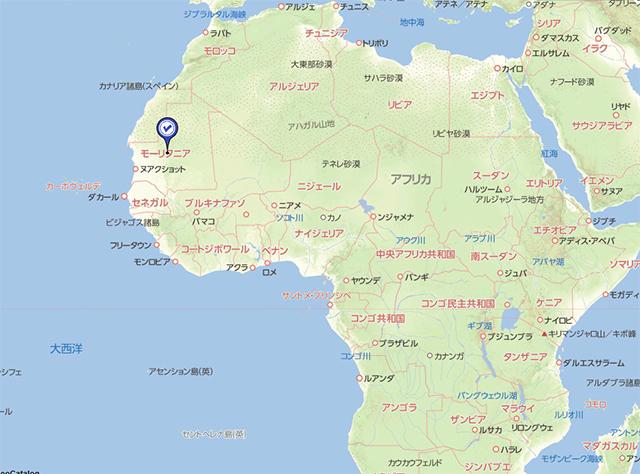 モーリタニア 地図